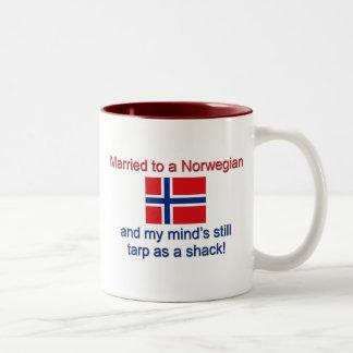 Married To A Norwegian... Two-Tone Coffee Mug