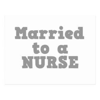 MARRIED TO A NURSE POSTCARD