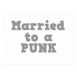 MARRIED TO A PUNK POSTCARD