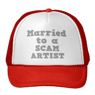 MARRIED TO A SCAM ARTIST MESH HAT