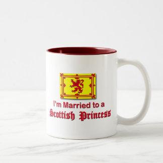 Married to a Scottish Princess Two-Tone Coffee Mug