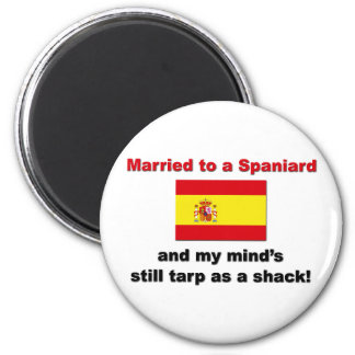 Married to a Spaniard 2 Inch Round Magnet