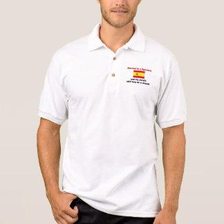 Married to a Spaniard Polo Shirts