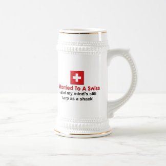 Married to a Swiss Coffee Mugs
