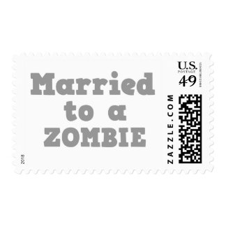MARRIED TO A ZOMBIE STAMP