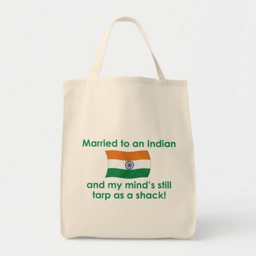 Married to An Indian Tote Bags