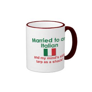 Married to an Italian Ringer Coffee Mug