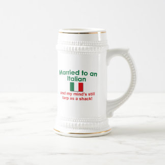 Married to an Italian 18 Oz Beer Stein