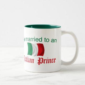 Married to an Italian Prince Two-Tone Coffee Mug