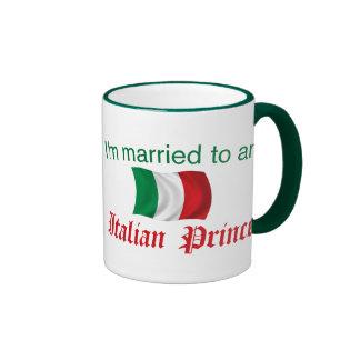 Married to an Italian Prince Ringer Coffee Mug