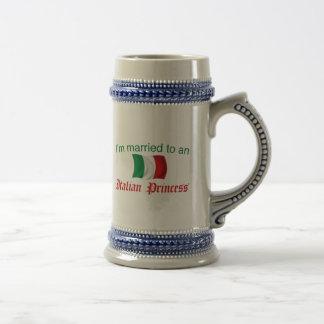 Married to an Italian Princess 18 Oz Beer Stein