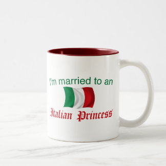 Married to an Italian Princess Two-Tone Coffee Mug