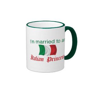 Married to an Italian Princess Ringer Coffee Mug