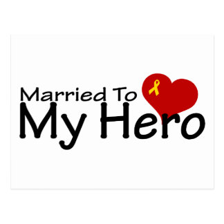Married To My Hero Postcard