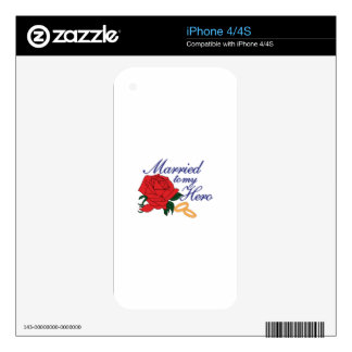 Married To My Hero Skin For The iPhone 4
