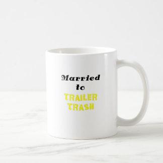 Married to Trailer Trash Coffee Mug