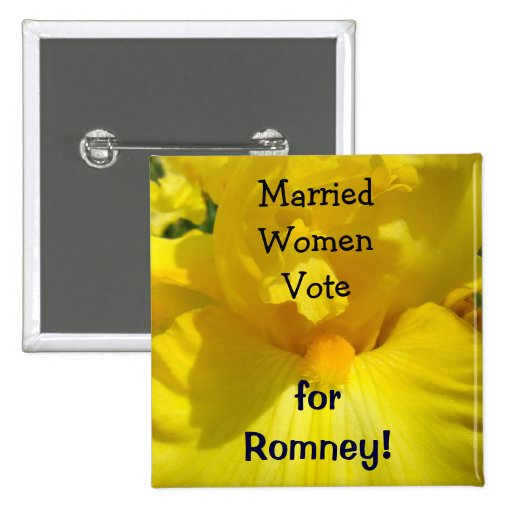 Married Women Vote for Romney! buttons Political