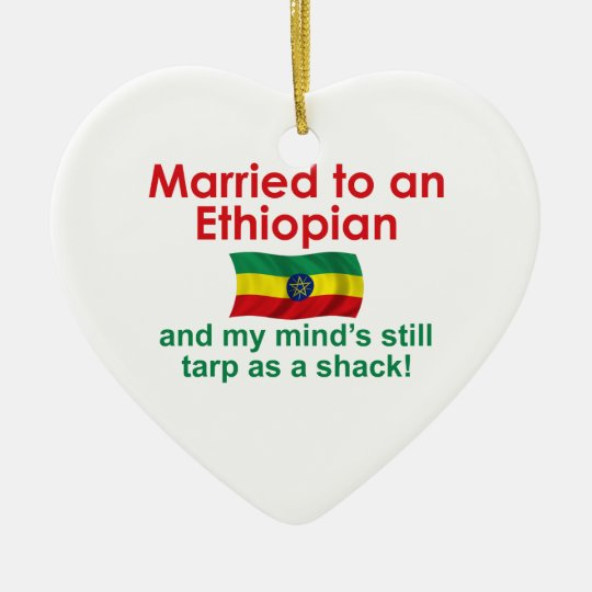 Marriet to an Ethiopian Ceramic Ornament