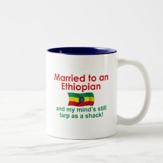 Marriet to an Ethiopian Two-Tone Coffee Mug