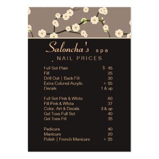 Marrón 2 de la flor de cerezo del balneario de la  tarjeta personal