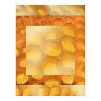 Marrón amarillo anaranjado del dibujo dulce del postal