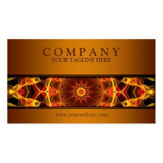 marrón amarillo moderno de la mandala del azafrán plantillas de tarjeta de negocio