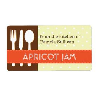 Marrón anaranjado del utensilio de la cocina de la etiqueta de envío