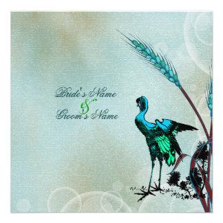Marrón azul que casa la grúa verde del pájaro comunicados personalizados