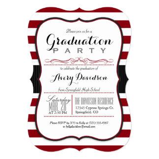 """Marrón, Borgoña y fiesta de graduación de las Invitación 5"""" X 7"""""""