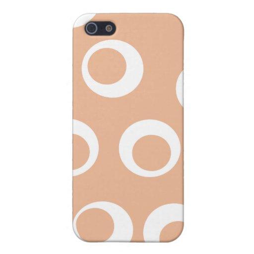 Marrón claro y blanco circunda Pern. iPhone 5 Funda