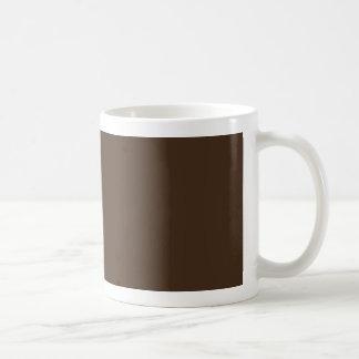 Marrón - color oscuro de Brown del tronco de árbol Tazas De Café