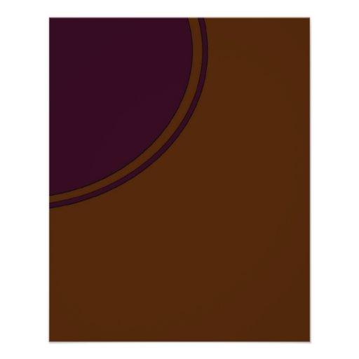 marrón con el círculo púrpura tarjetones