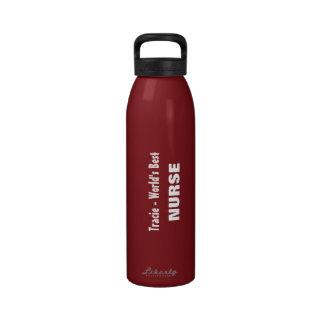 MARRÓN conocido de encargo de la mejor ENFERMERA d Botellas De Agua Reutilizables