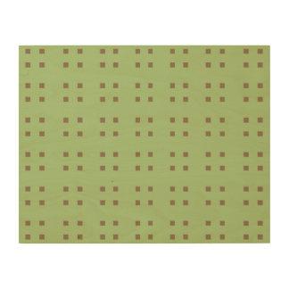 Marrón cuadrado del verde del modelo cuadros de madera