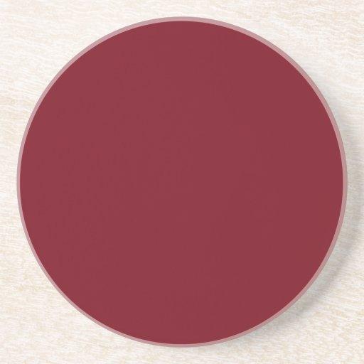 marrón de color rojo oscuro posavasos manualidades