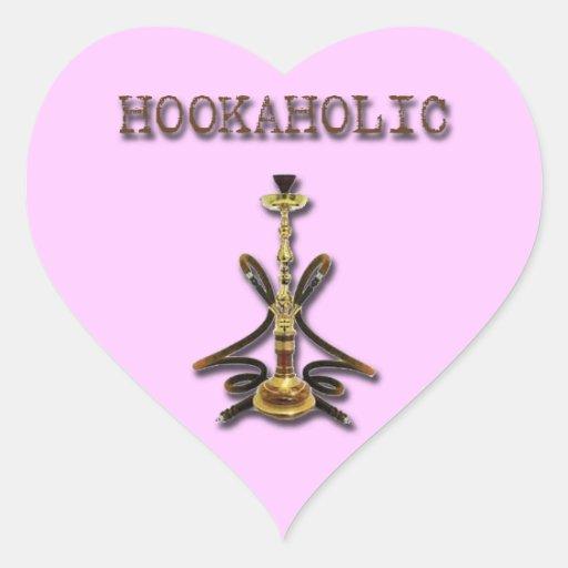 Marrón de HOOKAHOLIC Pegatina En Forma De Corazón