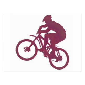 Marrón de la bici dentro tarjetas postales