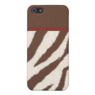 marrón de la jirafa con la raya roja iPhone 5 coberturas
