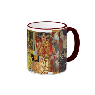 Marrón de la taza del collage de Klimt