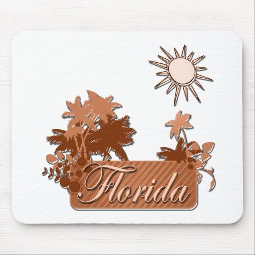 Marrón de las palmas y de Sun de la Florida Alfombrillas De Ratón