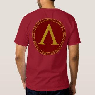 Marrón de Leonidas I y camisa del sello del oro