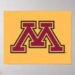 Marrón de Minnesota y movimiento M del oro Impresiones