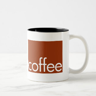 marrón del café taza de dos tonos