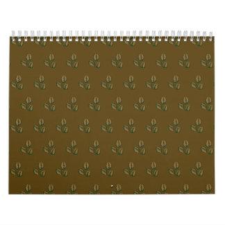marrón del café calendario