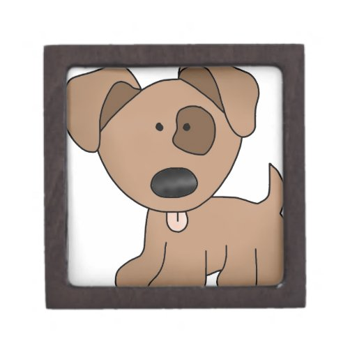 Marrón del perro manchado cajas de regalo de calidad