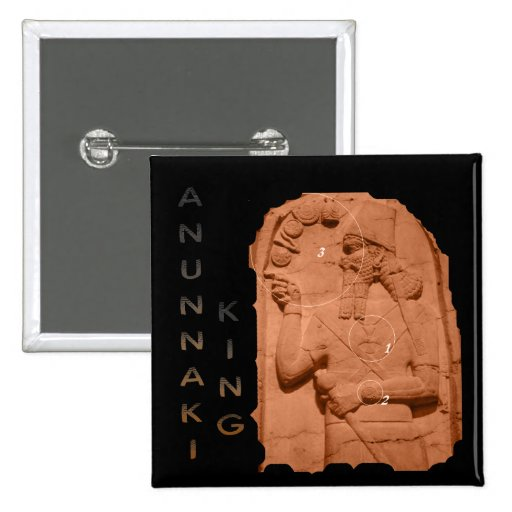 Marrón del rey de Annunaki Pins