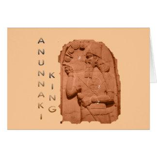 Marrón del rey de Annunaki Tarjeta De Felicitación