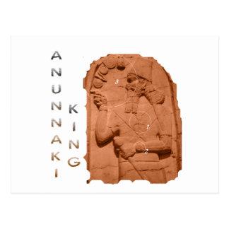 Marrón del rey de Annunaki Tarjeta Postal