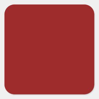 Marrón del rojo de vino calcomanía cuadradas personalizadas