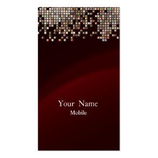 Marrón elegante de las lentejuelas tarjeta personal